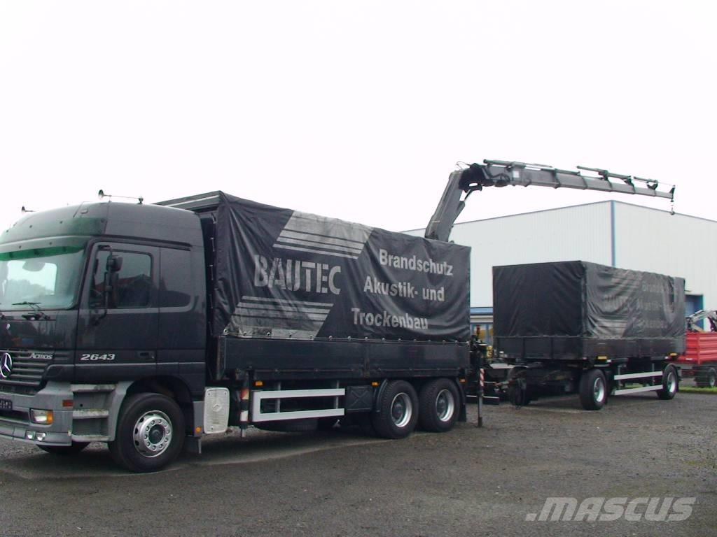 Used mercedes benz actros 2643 container frame trucks year for Mercedes benz truck financial