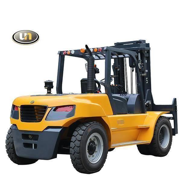 UN Forklift FD100T Diesel Forklift Isuzu 6BG1 3000mm Mast
