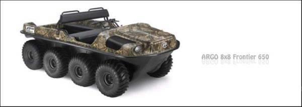Argo ATV-kétéltű Frontier 8x8