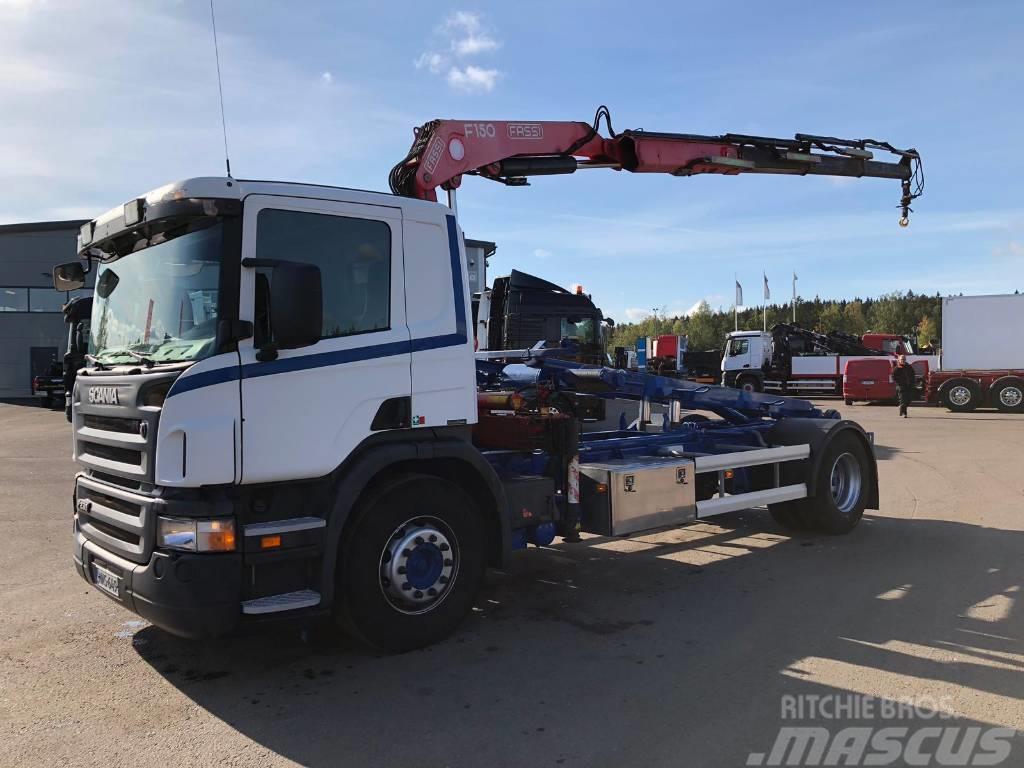Scania P230 4x2 Fassi F150 nosturi ja 4500mm vaijerilaite