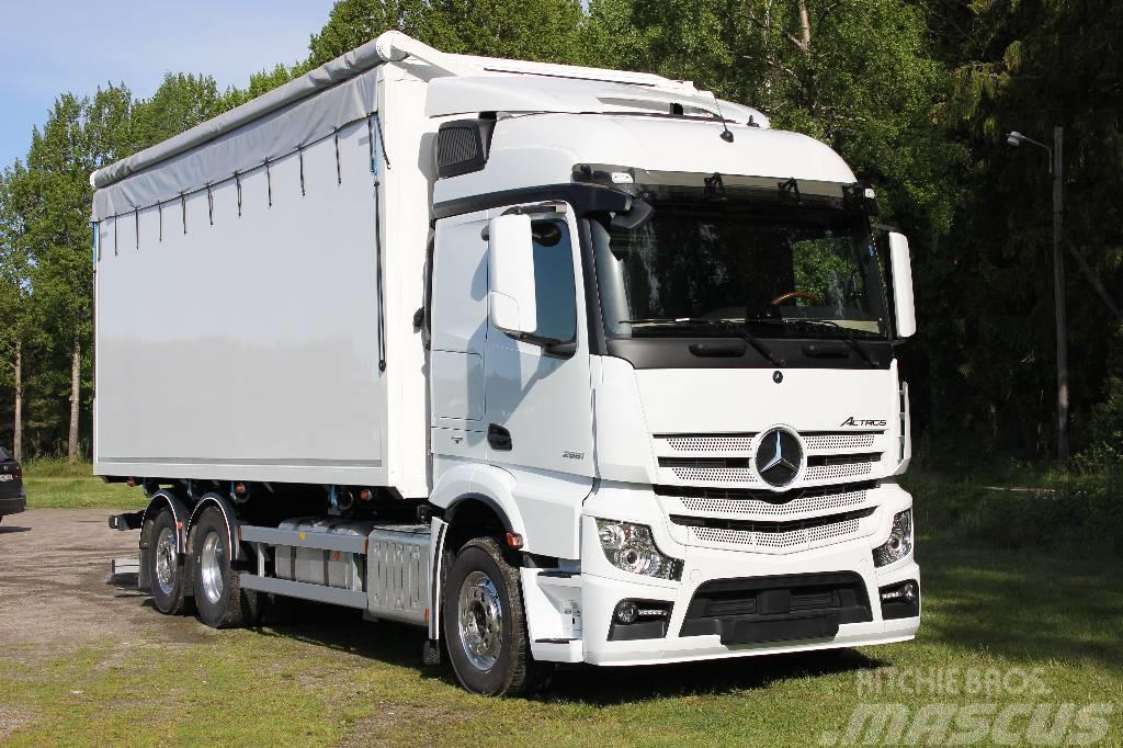 used mercedes benz actros 2553 l 6x2 flisbil wood chip trucks year 2018 price us 213 232 for. Black Bedroom Furniture Sets. Home Design Ideas