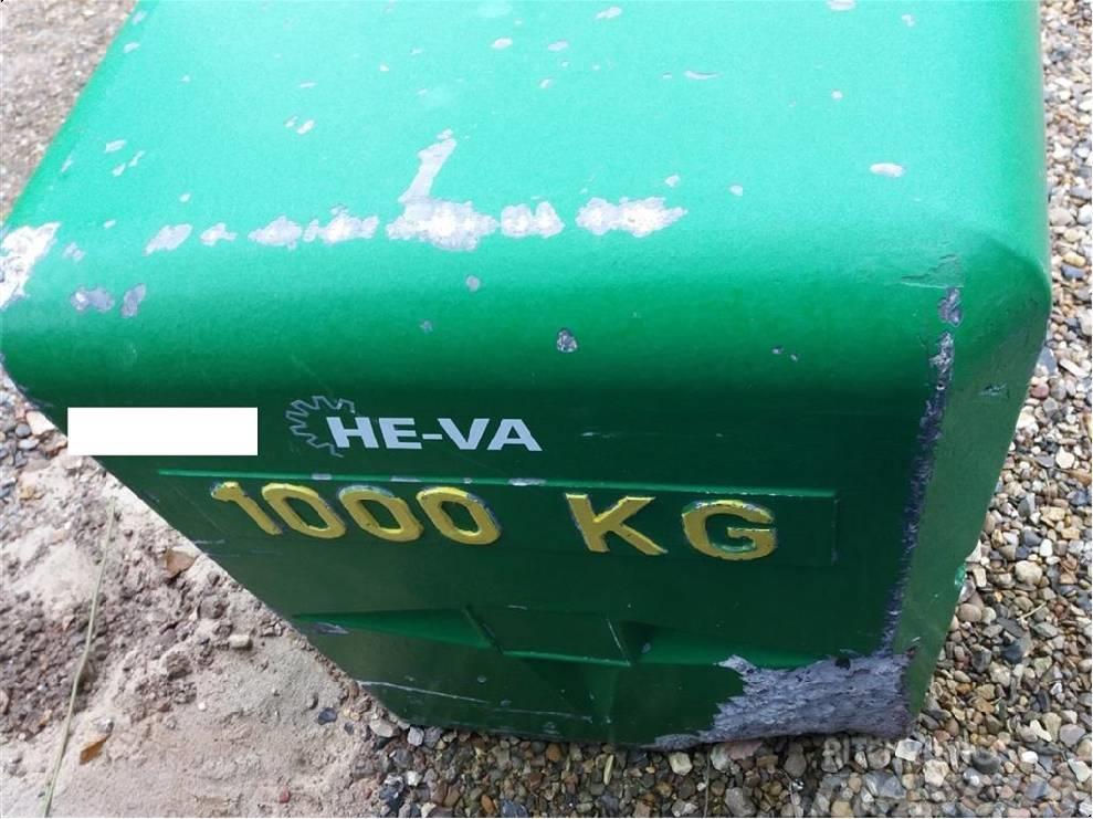He-Va Frontvægt 1000 kg John Deere