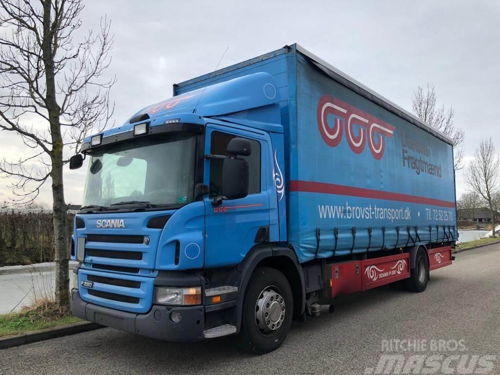 Scania P280 P280 Loadlift 4x2 curtainsider