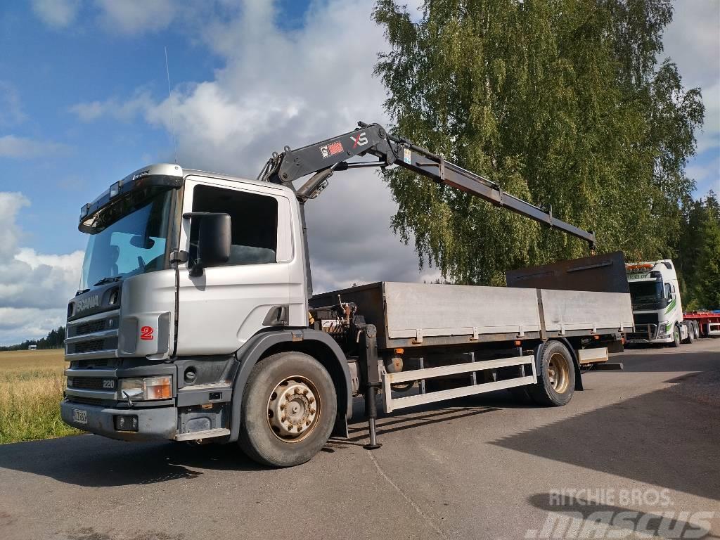 Scania P 94 4x2 rahtilava+pl+Hiab 095 nosturi