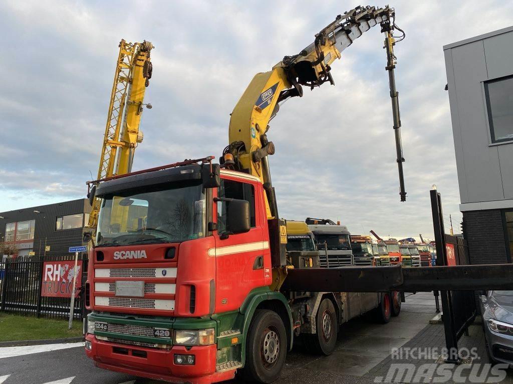 Scania R124-420 124G 420 8X2 MANUAL EURO 3 + EFFER 850/6S