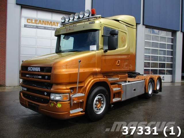 Used Scania T 500 6x2 V8 Retarder Kiphydraulic Tractor