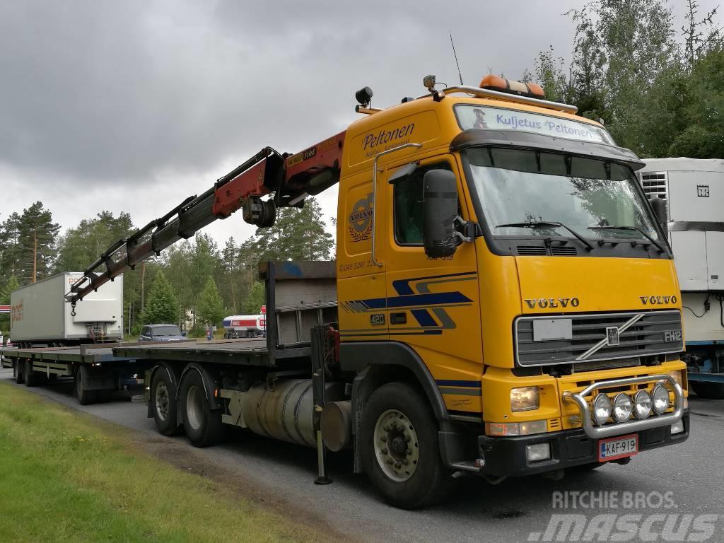 Volvo + Perävaunu FH 12 420 6X2 Nosturi 27 ton