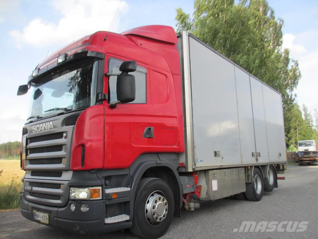Scania R480 6x2 sivuauk.kori+pl-nostin