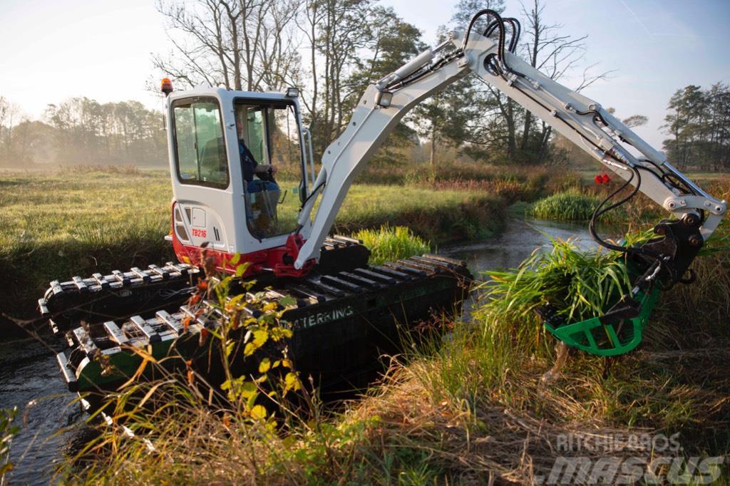 Waterking amphibious excavator 2 t class, excavadora anfibia