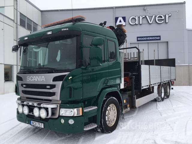 Scania P360 6x2*4 Flak o Kran  1 975 000:-