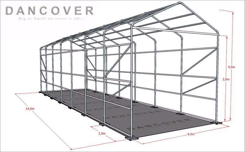 Dancover boat shelter 4x14x3 5x4 5m pvc badtelt price for 3999 roof