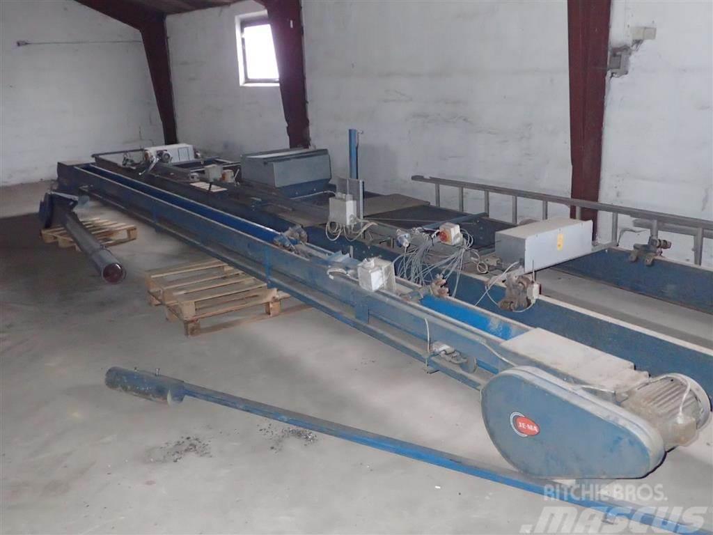 Jema Transportbånd 8 m med 3 m udlægger arm og slæde