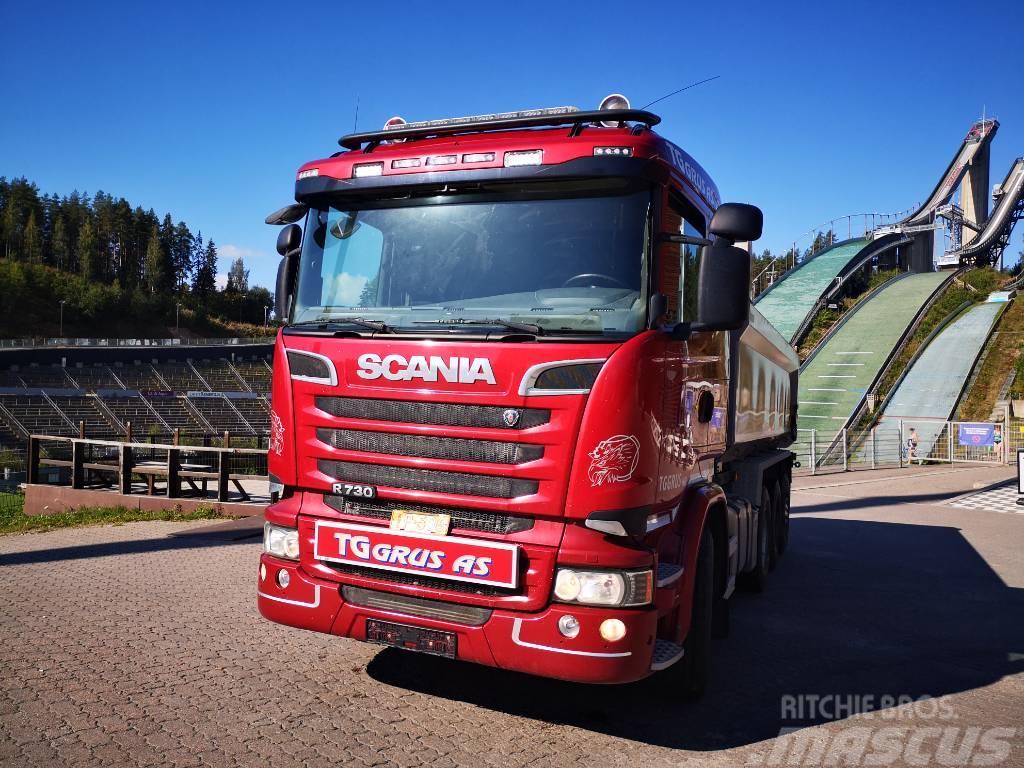 Scania R 730 tridem kippi rakennetaan koukku tai vaijeri
