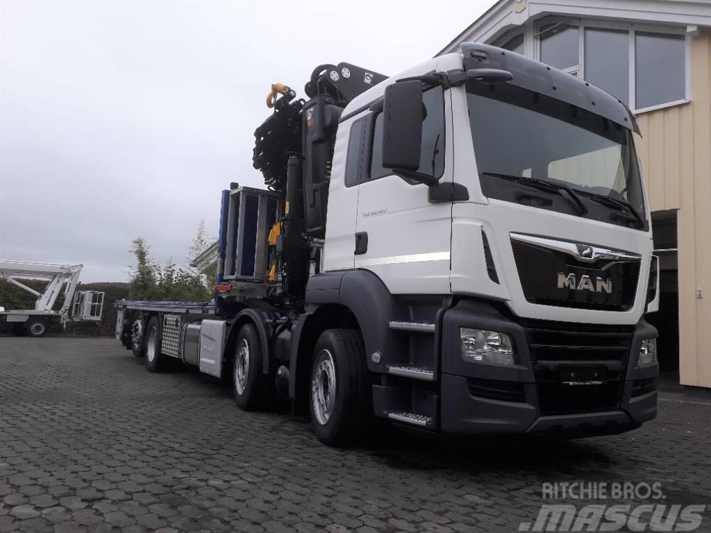 MAN MAN Containerfahrzeug 35.420,  HIAB Hi Pro 548 E7