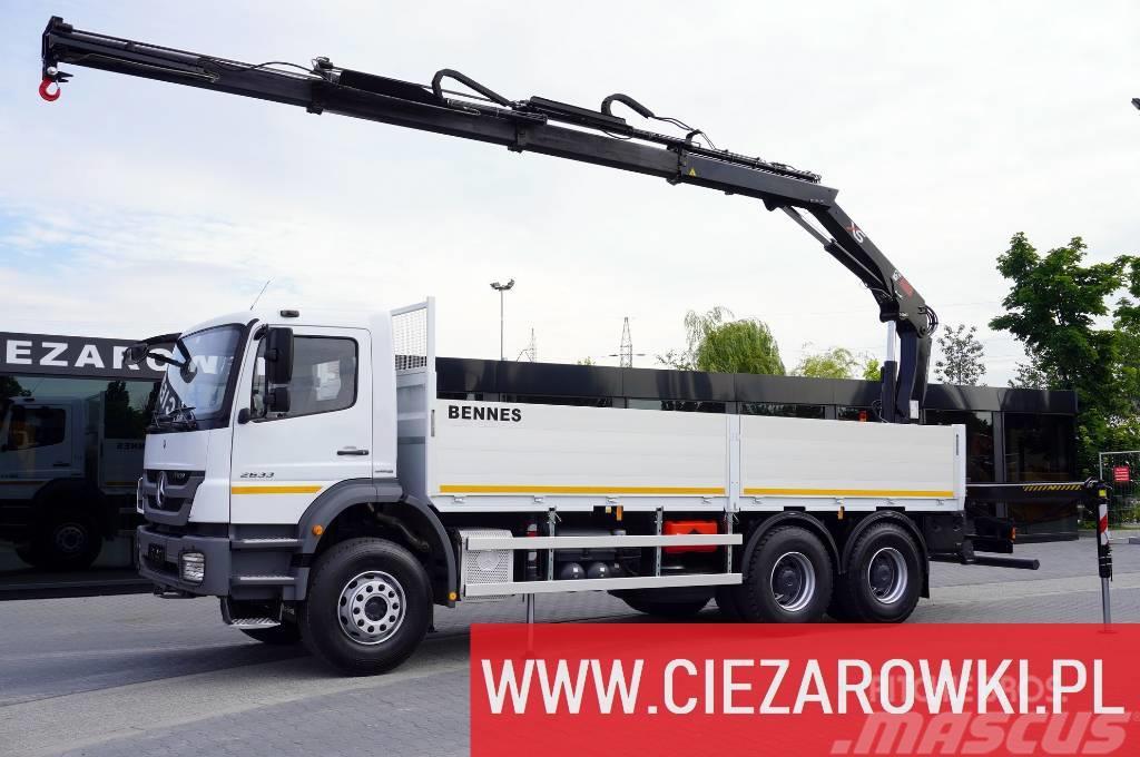 Mercedes-Benz Axor 2633 , E5 , 6x4 , Crane Hiab 144 , box 6,5m