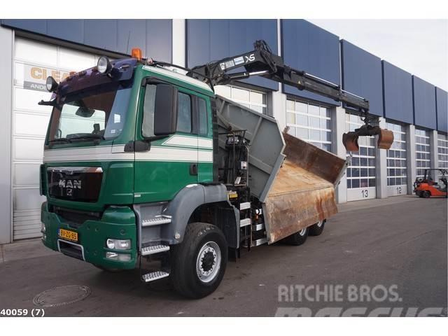 MAN TGS 26.360 6X6 BB Hiab 14 ton/meter laadkraan