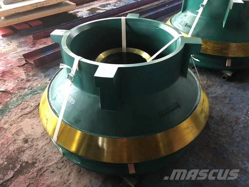 White Lai Mantle and Concave for Sandvik Cone Crusher