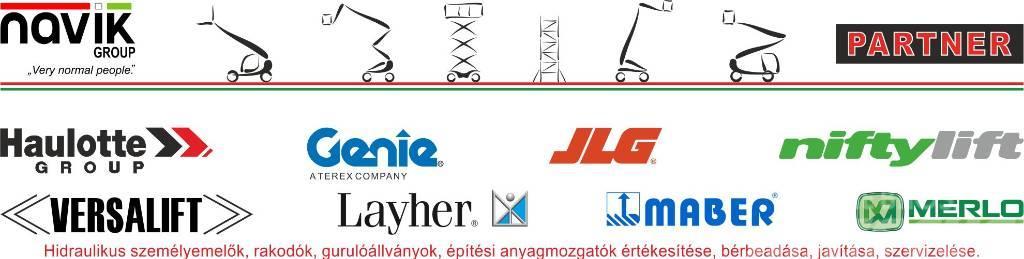 Haulotte / Genie / JLG / NiftyLift / Versalift új gépek
