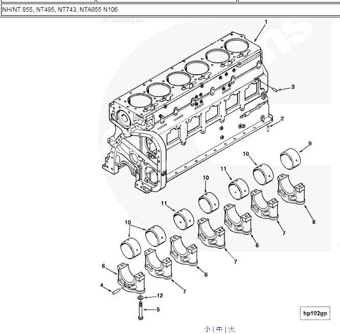 Shantui SD22 engine cylinder block