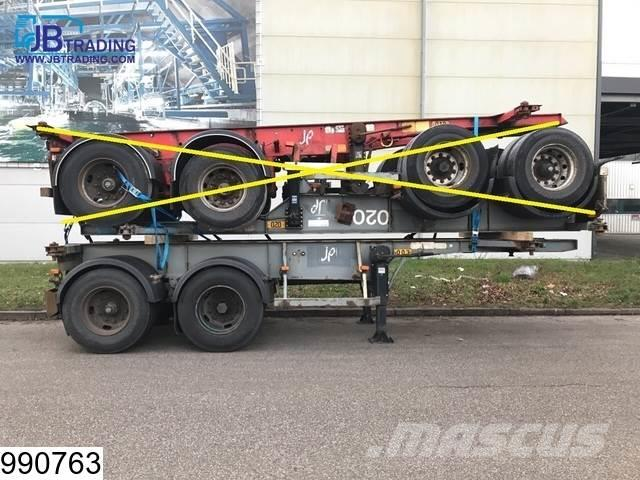 Asca Container 10 UNITS, 20 FT container chassis, Steel