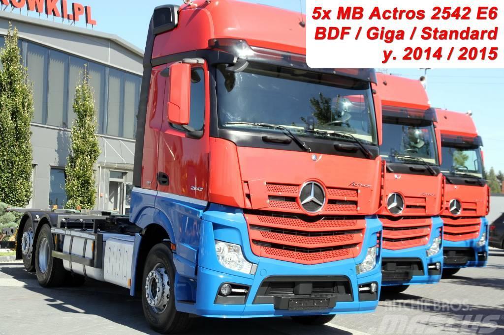 Mercedes-Benz ACTROS 2542 E6 BDF GIGA CHASSIS 5 UNITS!