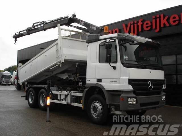 Mercedes-Benz ACTROS 2636 6X4 - 2 SIDE KIPPER USED TRUCK CRANE H