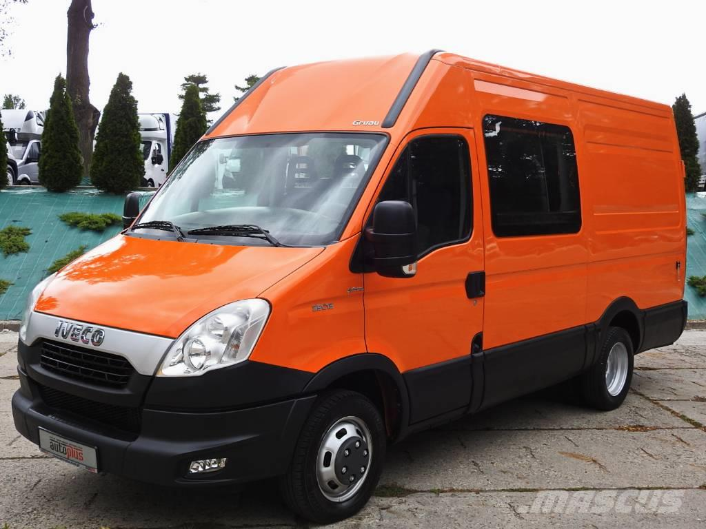 used iveco daily 35c13 furgon 6 miejsc klima pneumatyka panel vans year 2012 price 16 911 for. Black Bedroom Furniture Sets. Home Design Ideas