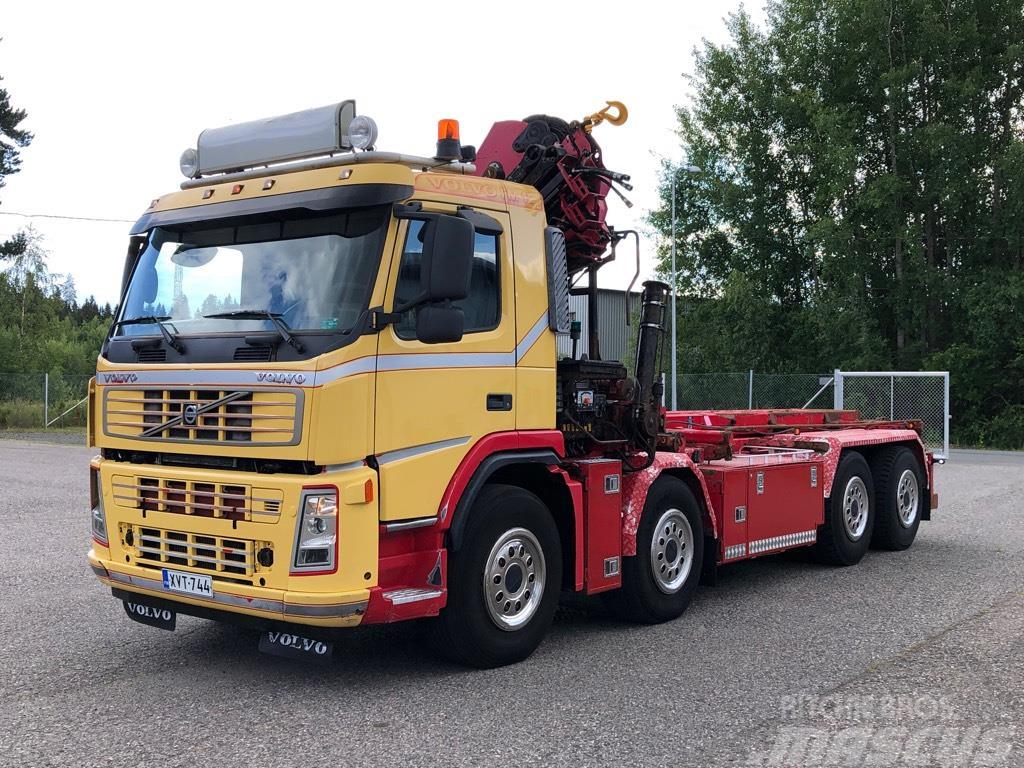 Volvo FM12 420 8x4 Hiab XS288 E-6 nosturi, vaijerilaite