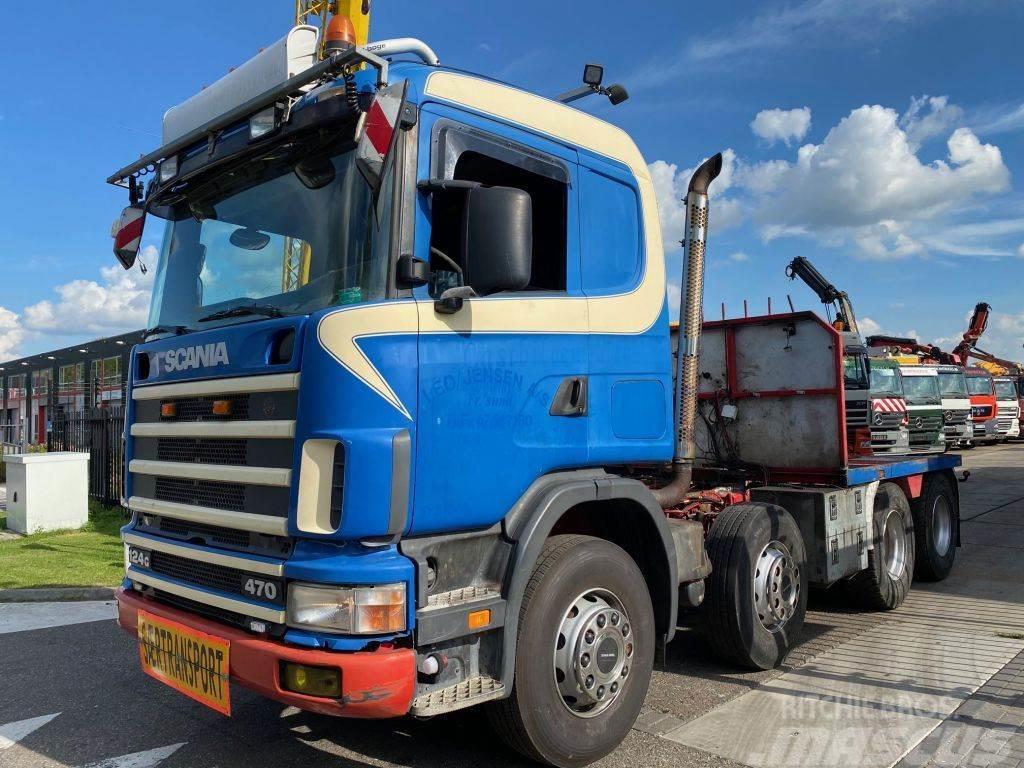 Scania R124-470 124G 470 8X4 MANUAL EURO 3