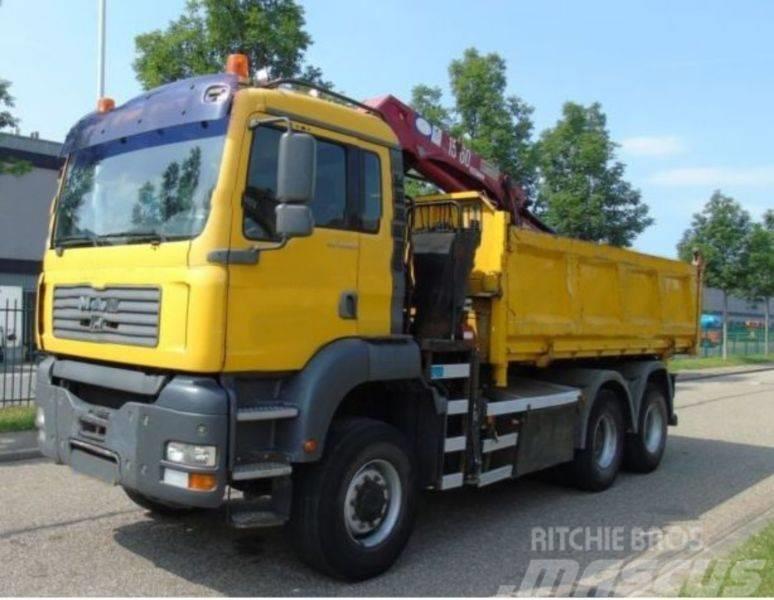 MAN 26.360 6x6 HMF 1560 EURO 3 Kran Kipper