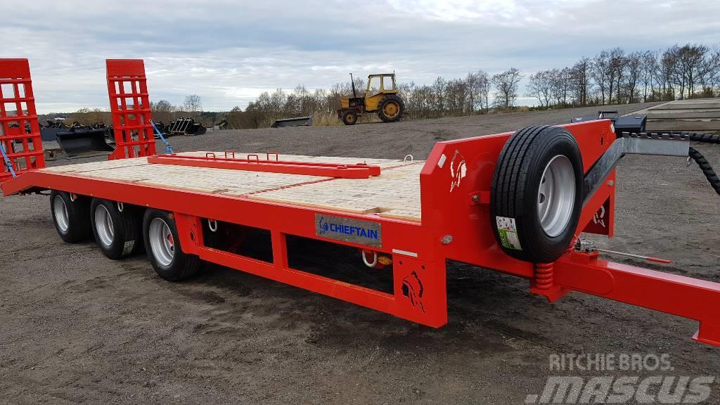 Chieftain 3-axl Maskintransportkärra traktor 24 ton