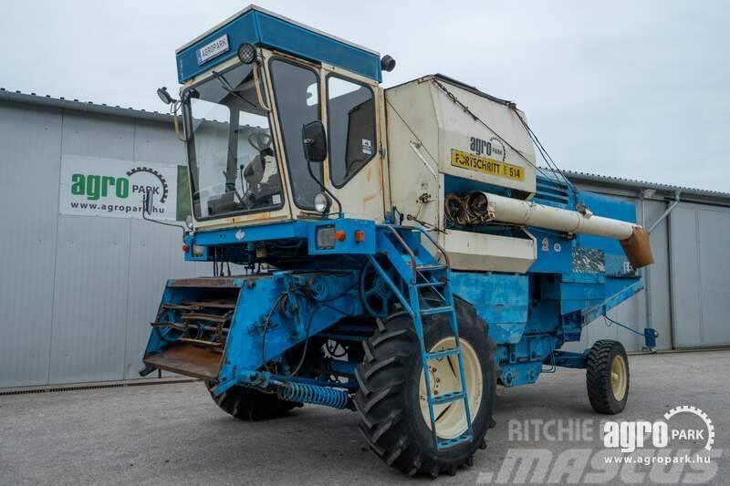 Fortschritt E514 (4506 hours) 4,2 m header + trolley, 4 straw