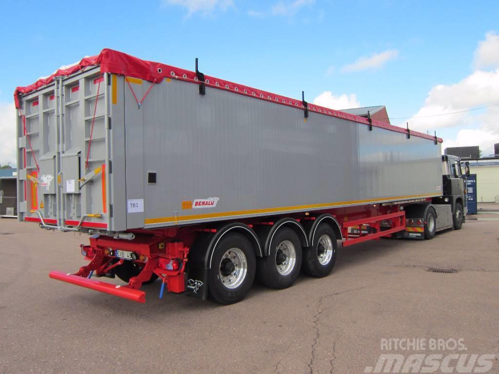 Benalu Tipptrailer 6100 kg Optiliner 3-axlad, 2017, Semirremolques de volteo