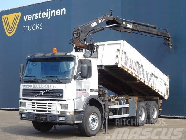 Volvo FM 12.380 6x4 CRANE + TIPPER / MANUAL / SPRING