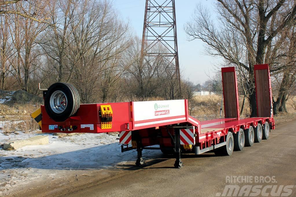 Grunwald 5 axle lowbed heavy duty semitrailer
