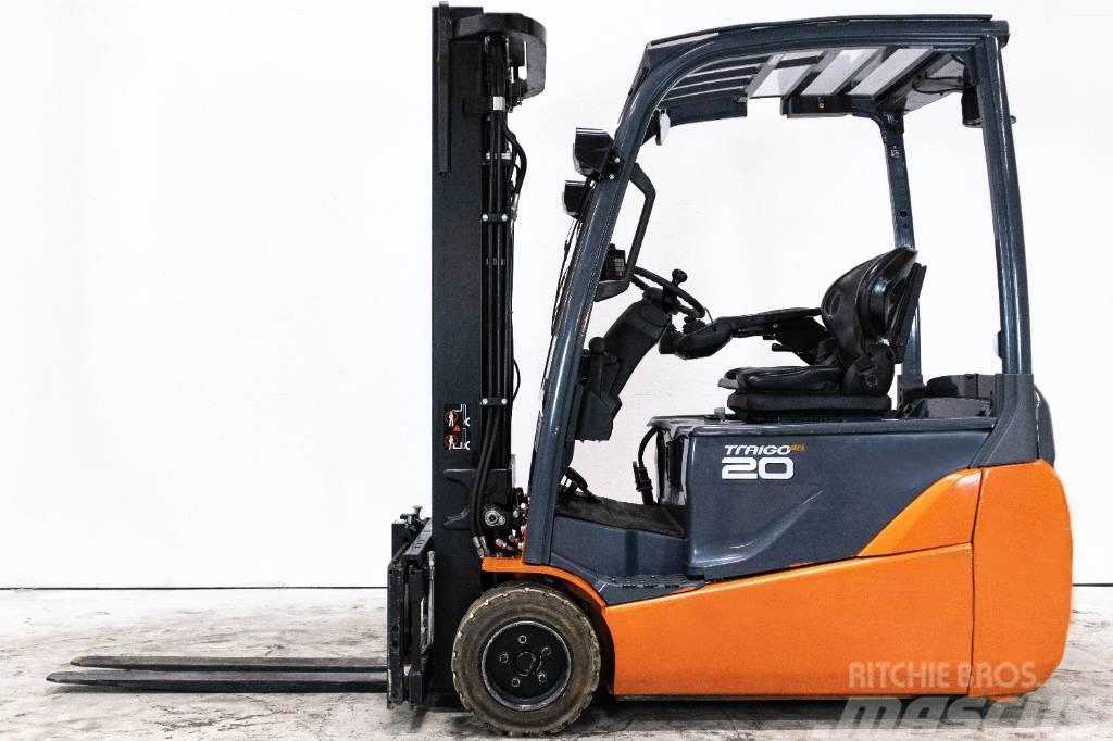 Toyota 2-tons elmotviktstruck m nytt aggregat, 8 FB ET 20