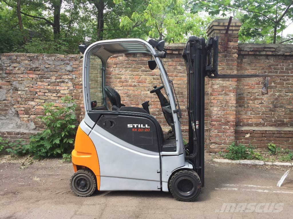 used still rx 20 20 p h electric forklift trucks year. Black Bedroom Furniture Sets. Home Design Ideas