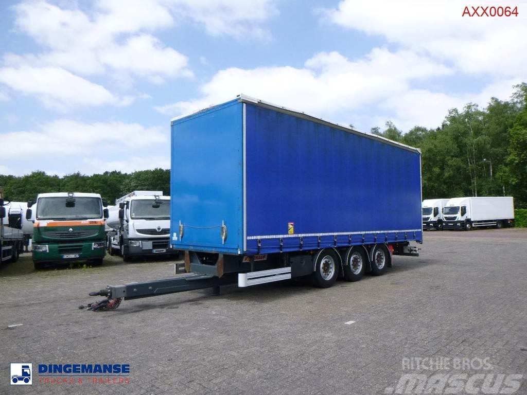 Fruehauf High volume curtain side drawbar trailer
