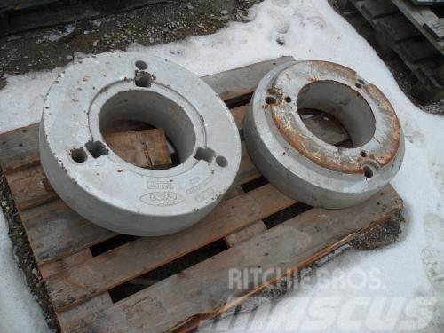 [Other] 2 stk. 222 Kg hjulvægte