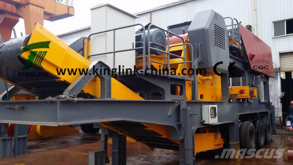 Kinglink KL938E69 Wheeled/Portable/Mobile Stone Jaw Crusher