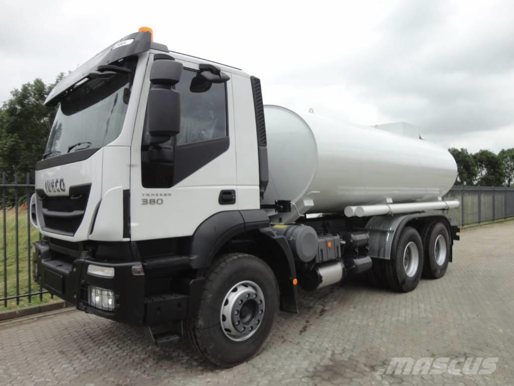 Used Iveco Trakker 380 with OMT 15cbm tank tanker trucks