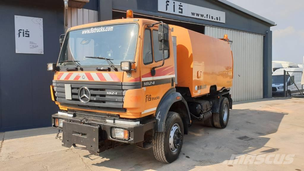 Mercedes-Benz SK 1824 AK 4X4 sweeping machine