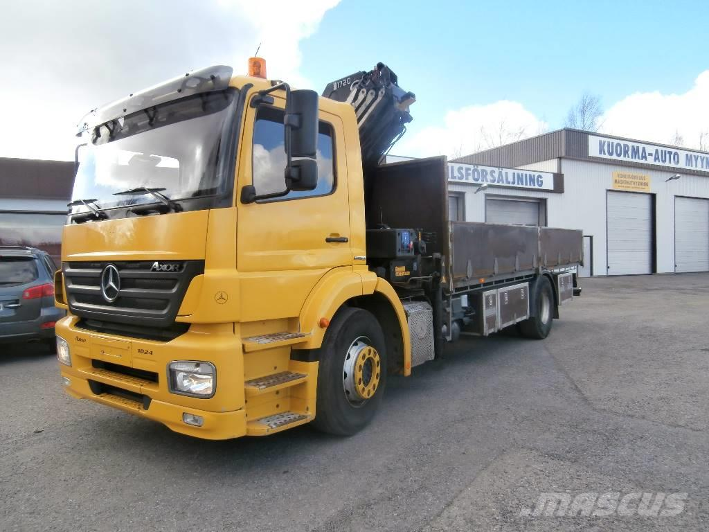 used mercedes benz axor 1824 l crane trucks year 2007 price 45 018 for sale mascus usa. Black Bedroom Furniture Sets. Home Design Ideas
