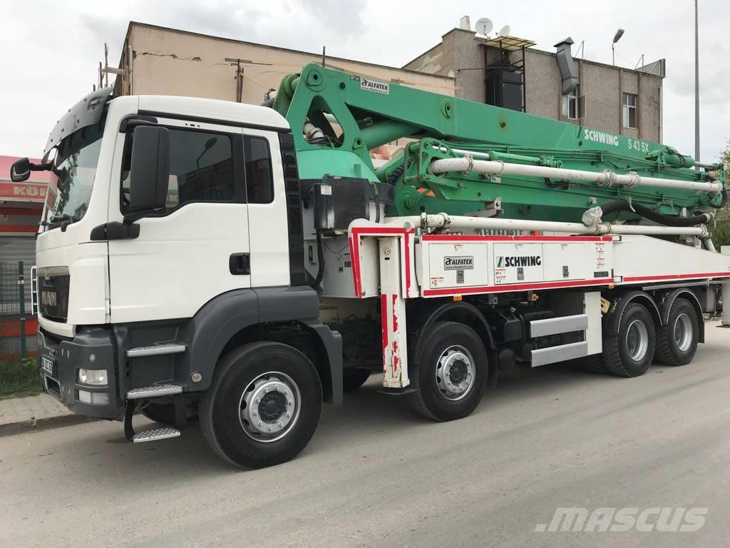 Used Schwing S43SX concrete pump trucks Year: 2014 for sale - Mascus USA