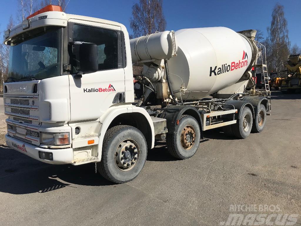 Scania R124 360 8x4 mikseri