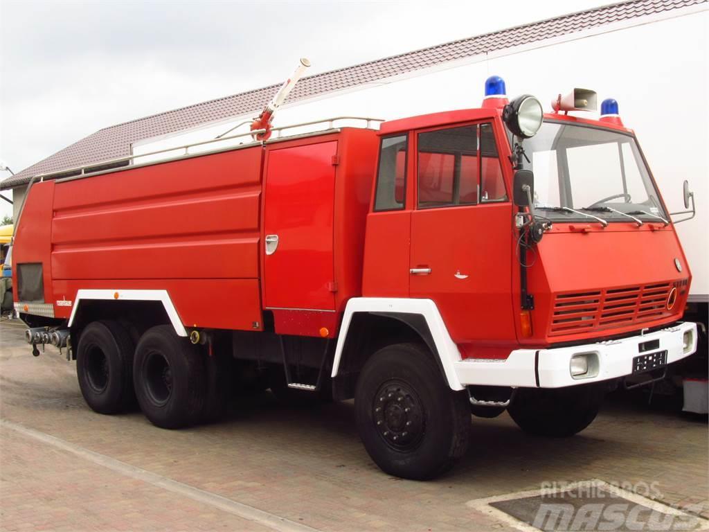 Steyr 1490 6x6 ROSENBAUER FIRE TRUCK 9000+4000 L TANK *9