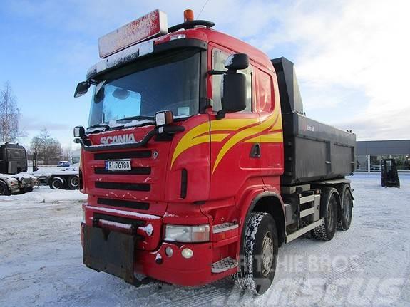 Scania R 560 6x4 tippbil brøyteplate m/hydraulikk