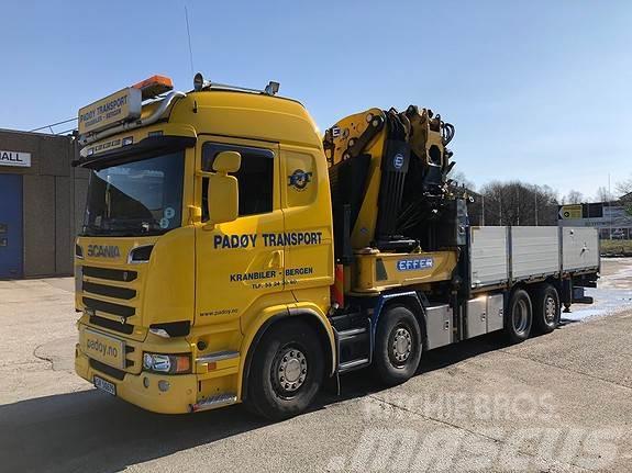 Scania R 560 8x2*6 helluft med Effer 95 t/m kran med jib