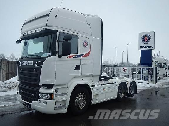 Scania R520 6x2, aa 3100, trekkvogn,
