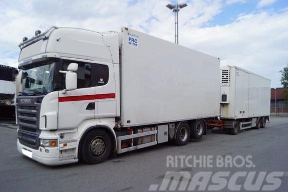 Scania R620 skapbil og henger med kjøle og fryseaggregat
